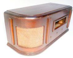 vintage SPARTON 6-26 RADIO part - Art Deco WOOD CASE & SPEAKER CLOTH | eBay