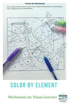 Chemistry Puzzle: Color by Element Type - Metal, Nonmetal ...