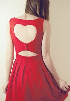 Heart Cut Out Pleated Dress in Red Yes To The Dress, Dress Me Up, Unique Fashion, Womens Fashion, Up Girl, Pretty Dresses, Passion For Fashion, Dress To Impress, Dress Skirt
