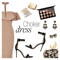 """Choker Dresses"" by dressedbyrose ❤ liked on Polyvore featuring Rare London, Gianvito Rossi, Vera Bradley, Marc Jacobs, MAC Cosmetics, Burberry, polyvoreeditorial and chokerdress"