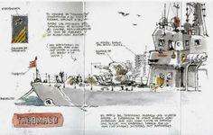 Drawing Attention - April 2014 Luis Ruiz Urban Sketchers