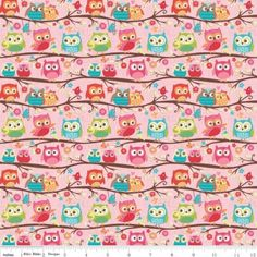 Happy Flappers Owls in pink