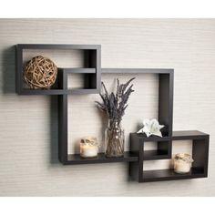 Intersecting Rectangular Wall Shelf