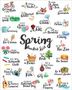 spring bucket list 2020 spring bucket list for families kids spring bucket list summer bucket list spring things list winter bucket list fall bucket list ultimate spring bucket list Summer Fun List, Summer Bucket, Spring Bucket Lists, Fun Bucket List Ideas, Summer Plan, Summer Ideas, Summer Time, Bullet Journal Ideas Pages, Bullet Journal Inspiration