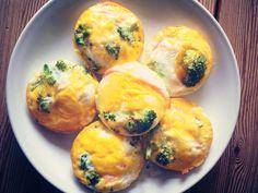 Protein Rezepte - Eier-Muffins mit Lachs und Broccoli