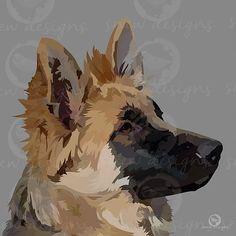 snewdesigns | German Shepherd | Digital Mans Best Friend, Best Friends, Animal Magic, Horses And Dogs, Dog Portraits, Animal Paintings, Cat Art, Puppy Love, Art Ideas