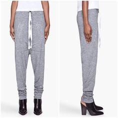 Denis Gagnon Heather Kangaroo Pouch Harem Pants Nwot, labeled XS but can fit XS/S Denis Gagnon Pants Track Pants & Joggers