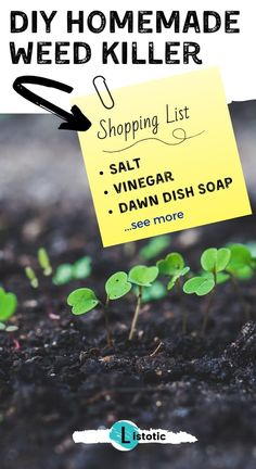 food and dring Homemade natural weed killer recipe is great for lawn and garden maintenance. Homemade Cooking Spray, Homemade Goo Gone, Weed Killer Homemade, Homemade Cleaning Products, Household Cleaning Tips, Natural Cleaning Products, Cleaning Hacks, Homemade Deodorant, Cleaners Homemade