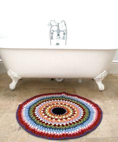 Rocket and Bear: Rocket and Bear Bath Crochet Bath Mat...