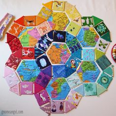 A tutorial and supplies list for those of you that want to learn how to use English Paper Piecing to achieve unique and striking quilts. Quilting Tutorials, Quilting Projects, Quilting Designs, Quilting Ideas, Sewing Projects, Patchwork Patterns, Quilt Block Patterns, Quilt Blocks, Hexagon Quilting