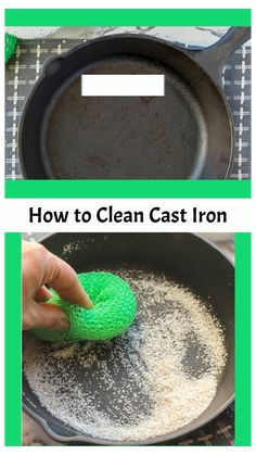 Iron Skillet Cleaning, Cleaning Cast Iron Pans, Cast Iron Skillet Cooking, Cast Iron Grill Pan, Cast Iron Griddle, Iron Skillet Recipes, Cast Iron Pot, Cast Iron Recipes, Cast Iron Dutch Oven