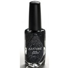 """For The Billionairess Who Has Everything: Azature's Black Diamond Nail Lacquer Needing something to show off that little black dress? $250,000.00 will get you a bottle of black diamond nail lacquer by Azature. The Hollywood-based jewelry couturier who caters to celebrities like Rihanna and Beyonce was inspired to produce the polish to honor his love of black diamonds. He calls his polish the """"ultimate fine jewel."""""""
