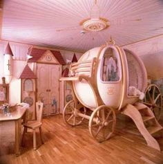 Pretty princess bedroom, if I ever have a girl I'm totally friggin doing this!