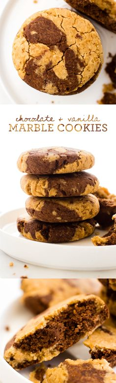 Chocolate & Vanilla Marble Cookies -1 1/2 cup brown rice flour  1/2 cup tapioca starch  1/2 cup coconut sugar  1 tsp baking powder  Pinch of salt  3/4 cup full-fat coconut milk  1/4 cup maple syrup  1 tsp vanilla extract  2 tbsp cacao powder