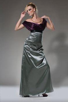 Interesting . . . Elegant V neckline Bridesmaid Dress Eggplant by DariaKaraseva, $180.00
