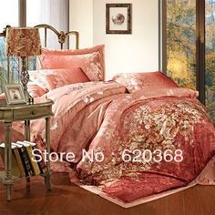 Aliexpress.com : Buy Full colored 100% cotton home textile satin jacquard four piece bedding set /weddig bedding set/comforter set/duevet cover from Reliable antique wedding bed suppliers on Yous Home Textile. $98.00 - 100.00