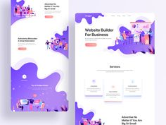 Digital Design Agency designed by Ishtiaq Khan Parag for Ofspace. Connect with them on Dribbble; Web Layout, Layout Design, Website Layout, Parallax Effect, Cv Inspiration, Web Ui Design, Web Design Trends, Flat Design, Ui Web