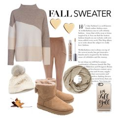 """""""Fall Sweater"""" by miihellis ❤ liked on Polyvore featuring French Connection, UGG, Lipsy, SIJJL, John Lewis and Casetify"""