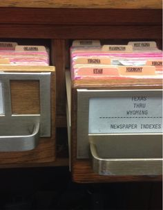 From the Twitter feed of the  Library of Congress: #TBT Think card catalogs are #oldschool? Not in #NewsRR -- We use 'em daily! http://go.usa.gov/HRS3