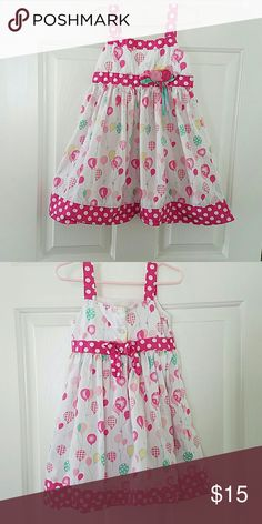 Pink balloon boutique dress Great conditon only worn inside a couple times... this will fit a 3-4year old size says 5t... Dresses