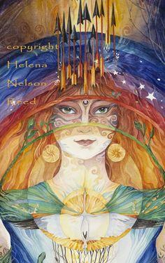 Celtic Imbolc Goddess by Helena Nelson Reed