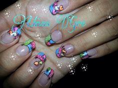Uñas Color Block Nails, Baby Nails, Manicure, Mosaic, Nail Designs, Nail Art, Swag, Colors, Hair