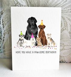 Available on Etsy featuring a Miniature Schnauzer, Maltese, Newfoundland Dog, Yorkshire Terrier, Chocolate Labrador Retriever, and Lakeland Terrier dogs. By Driven to Ink.