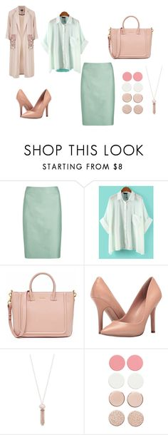 юбкатоп by loban-ovat on Polyvore featuring мода, WithChic, Topshop, Armani Collezioni, Charles by Charles David and Michael Kors