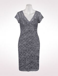grey lace dress from dress barn