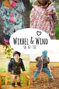efa4214f557 Schöne Jacke für Kinder - Nähanleitung via Makerist.de Sewing Patterns For  Kids