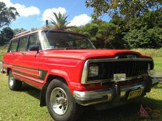 For sale is a Classic Jeep Cherokee Wagoneer Truck 1983 V8 4x4.  This Jeep has only had one owner and in 30 years has completed less than 129. 00 km.  The Jeep has been used in an Australian TV series and in commercials and is a genuine classic.  It is well maintained and if required a full mechanical history can be provided.  It was converted to LPG to reduce petrol costs.  It is a great off road