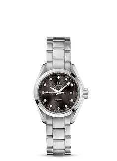 Ladies Omega Seamaster Aqua Terra 150 M Quartz 30 mm - Steel on steel - $3600.00