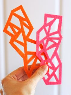 DIY geometric felt bookmarks | How About Orange