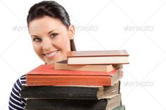 student smiling ...  Highschool, academic, adult, attractive, background, beautiful, beauty, behind, book, bookcase, brunette, cheerful, close up, college, cute, desk, education, eyes, female, funny, girl, happiness, hide, isolated, knowledge, learn, library, lifestyle, literature, looking, people, person, pile, pretty, reading, school, schoolgirl, smart, smile, student, studying, teacher, teenager, textbook, university, white, woman, young, youth