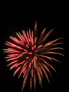 Colorful Fireworks 2 by Cynthia Woods