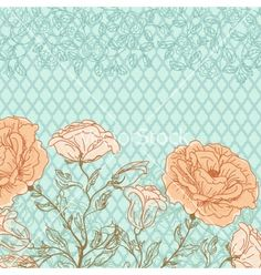 Doodle rose background vector by 0mela on VectorStock®