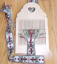 Hard maple double hole tape loom by finnsheep on Etsy Tablet Weaving Patterns, Weaving Loom Diy, Inkle Weaving, Weaving Tools, Inkle Loom, Card Weaving, Weaving Projects, Loom Bracelets, Weaving Techniques