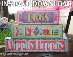 DIY Spring Stackable Wooden Blocks INSTANT by mydigitalcreations
