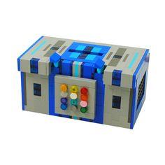 Lego Tzedakah Box by Brick Shtick: Blue
