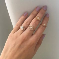 Orb Collection Nova Rings by Shimell & Madden, in rose gold with diamonds Handmade Engagement Rings, Designer Engagement Rings, Alternative Wedding Jewellery, Contemporary Jewellery, 18k Rose Gold, Gold Jewelry, Silver Rings, Wedding Rings, Phone Case