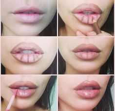 contouring technique for bigger looking lips