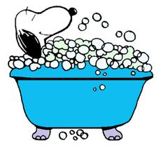 A personal favorite from my Etsy shop https://www.etsy.com/listing/265563183/snoopy-having-a-bubble-bath-refrigerator