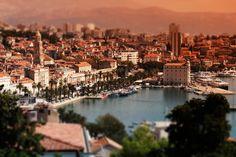 A beautiful miniature landscape of Split, Croatia