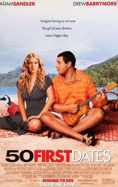 """Film: 50 First Dates (2004) Year poster printed: 2004 Country: USA Size: 27""""x 40"""" This is a vintage, advance one-sheet movie poster from 2004 for 50 First Dates starring Adam Sandler, Drew Barrymore,"""