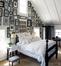 Attic bedroom // A summer house in Sweden.