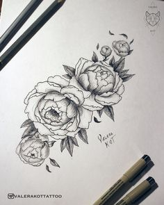 Peonies/ Пионы #peony #peonytattoo #peonies #womantattoo #flowertattoo #tattooart #tattoodesign #tattoosketch #пион #эскиз #эскизтату #набросок #рисунок
