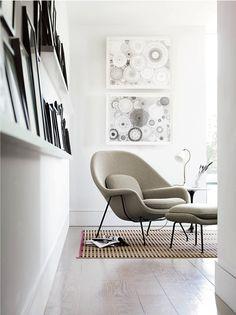 Womb Chair & Ottoman  Designed by Eero Saarinen
