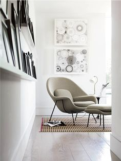 Womb Chair & Ottoman  Designed by Eero Saarinen