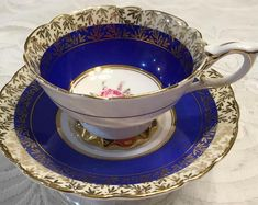 Royal Stafford Ornate Tea Cup and Saucer
