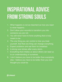 Habits of strong souls